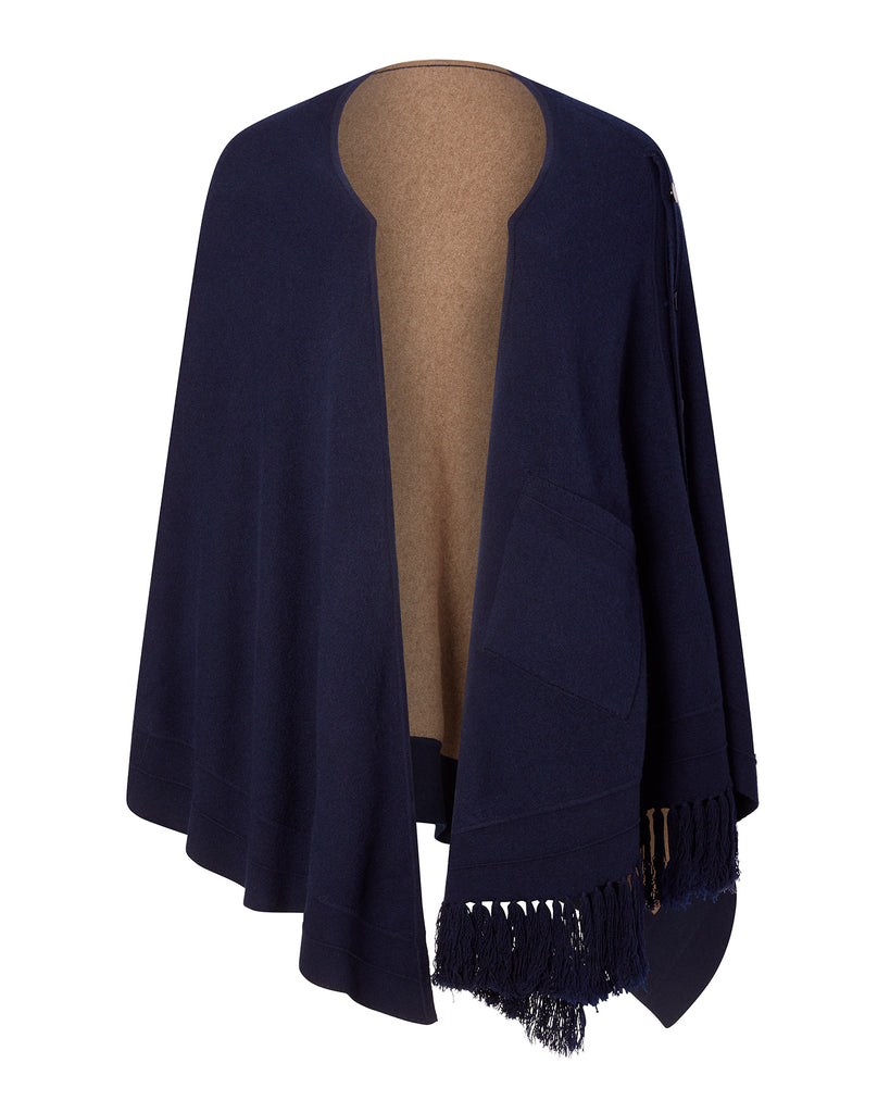 Reversible Two Tone Poncho
