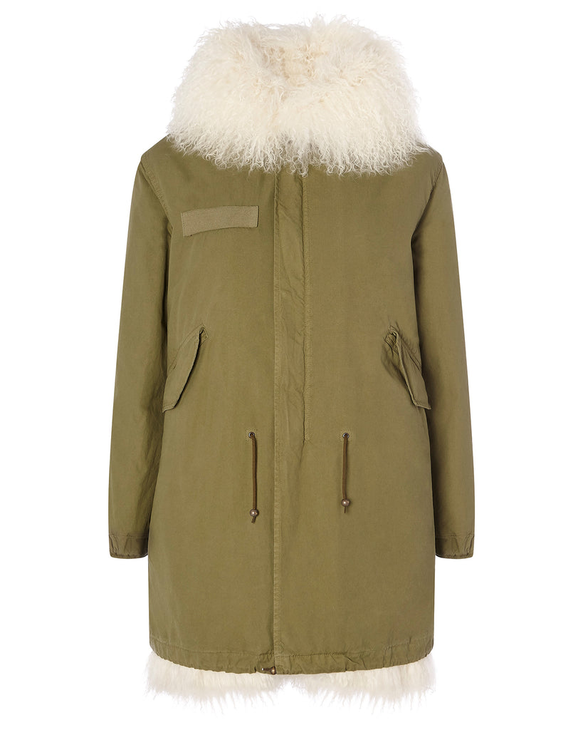 Parka with Mongolian Fur Lining