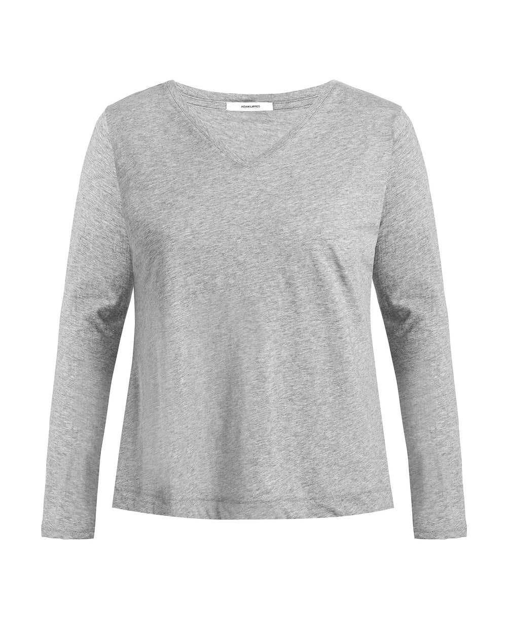 Long Sleeve V-Neck Pima Cotton T Shirt