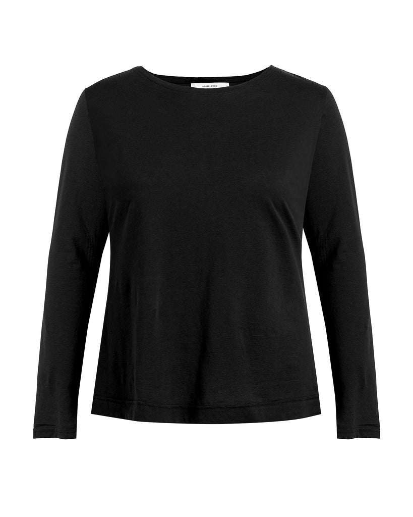 Long Sleeve Crewneck Pima Cotton T-Shirt