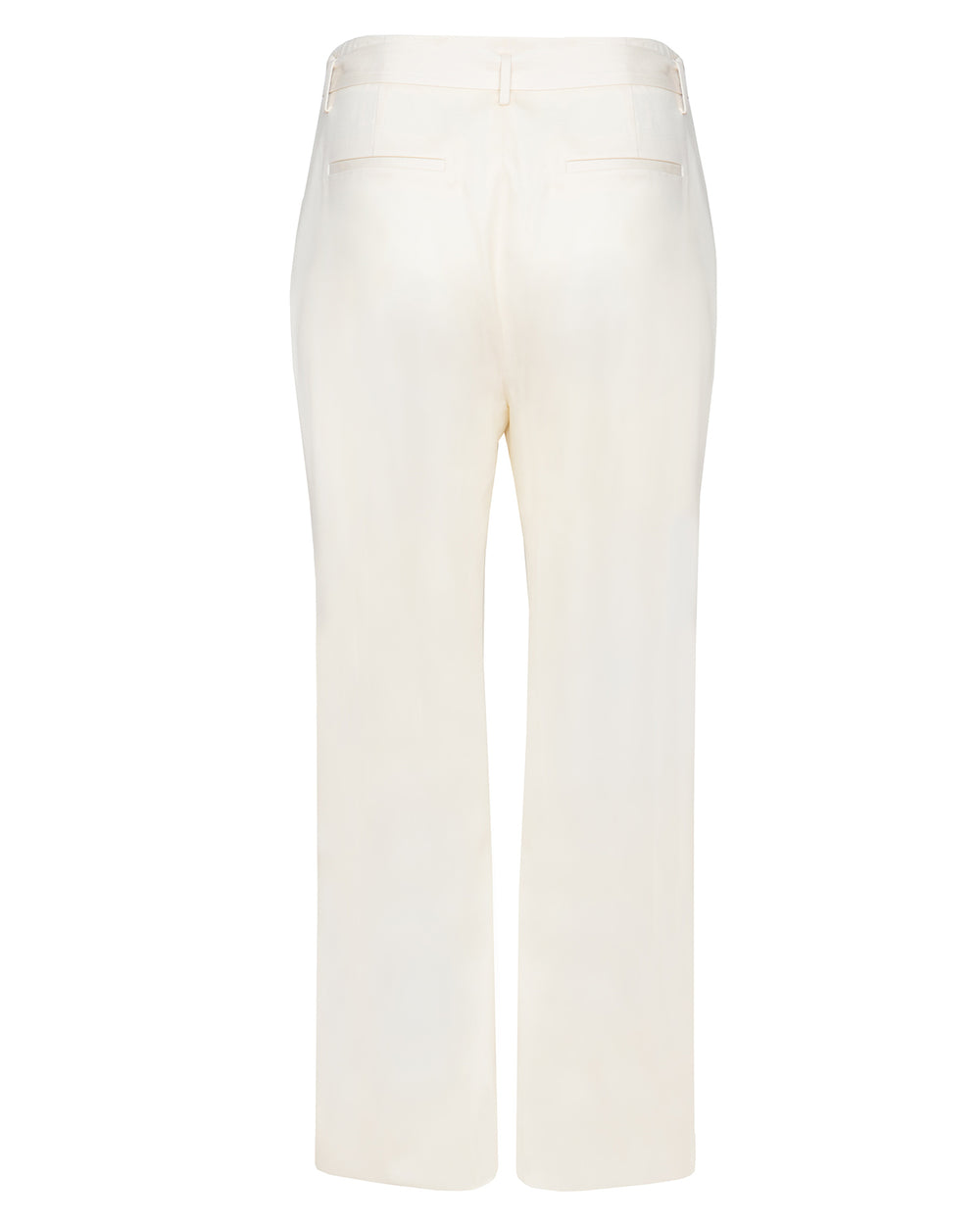 Luxe Wool Twill High Waisted Belted Pant