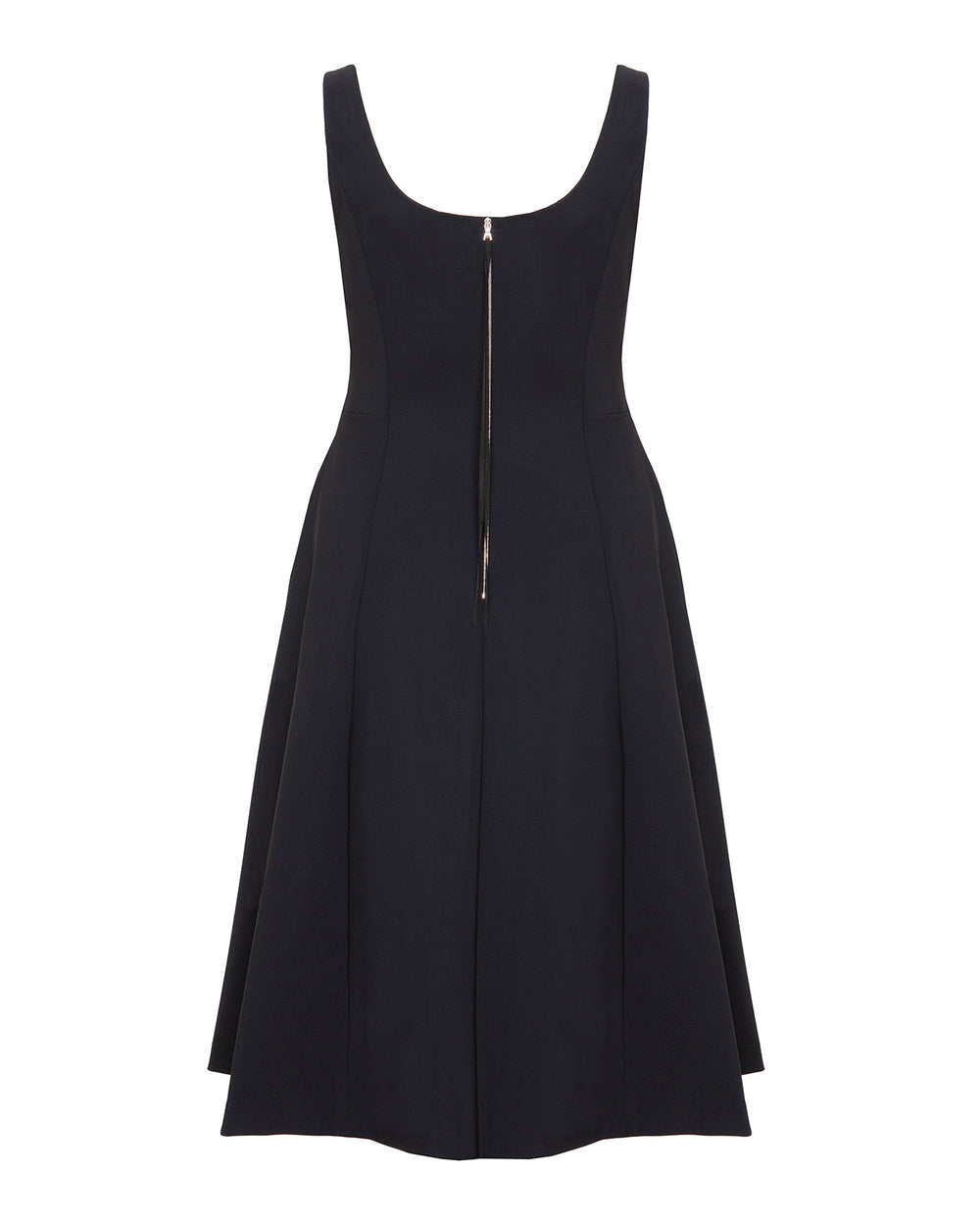 Bonded Neoprene Scoop Neck Flare Dress