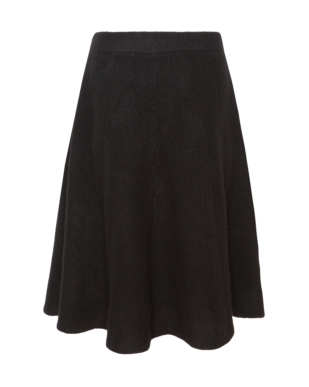 Brushed Herringbone Circle Skirt