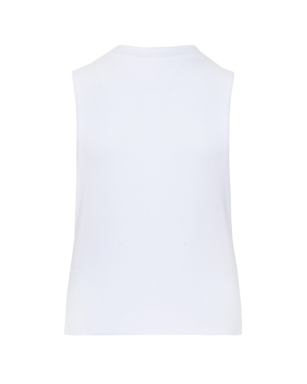 Ribbed Double Layer Sleeveless