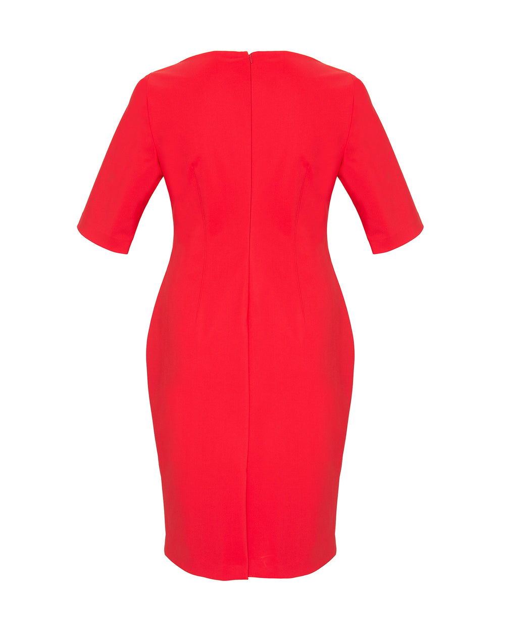 Bonded Neoprene Boat Neck Sheath Dress