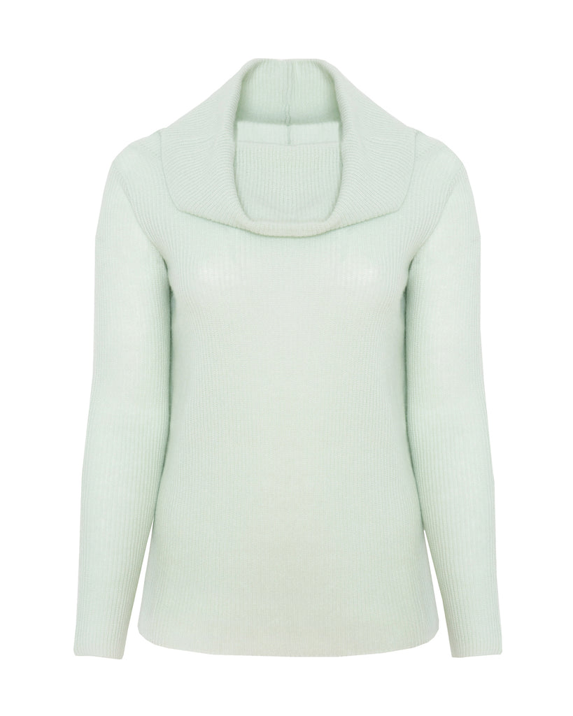 Cashmere Cowl Neck Long Sleeve Sweater