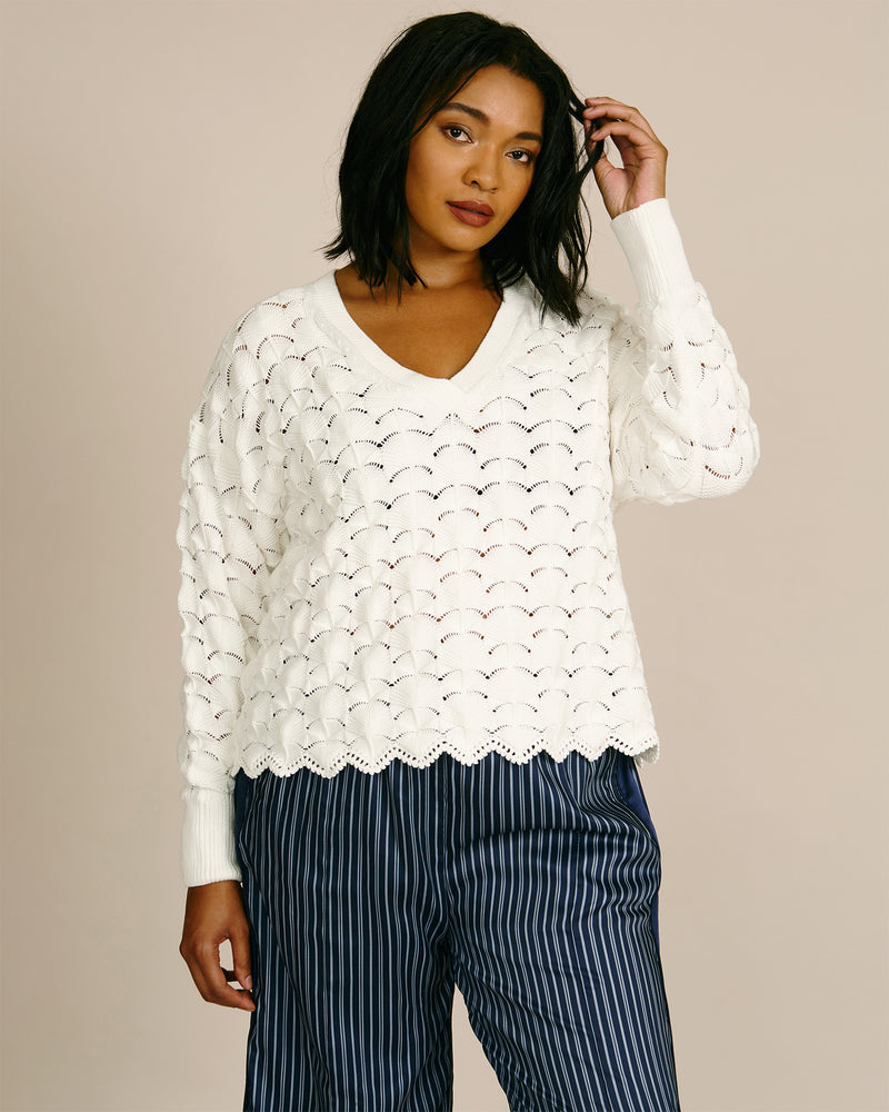 Gracelyn V Neck Pullover