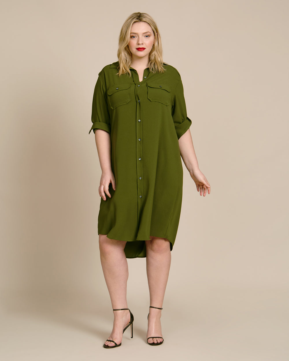 Epaulette Shirt Dress