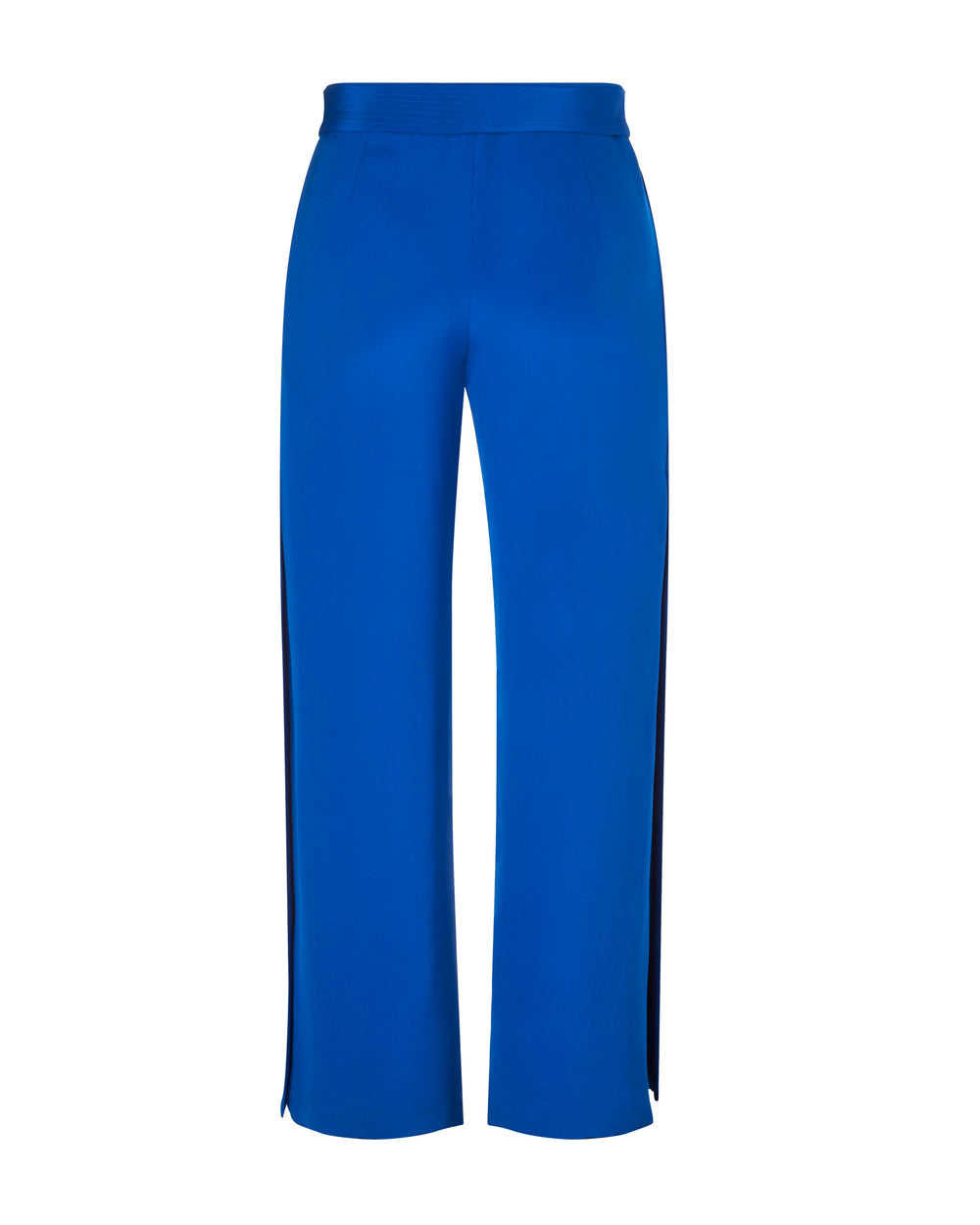 Silk Crepe Wide Leg Pant with Belt