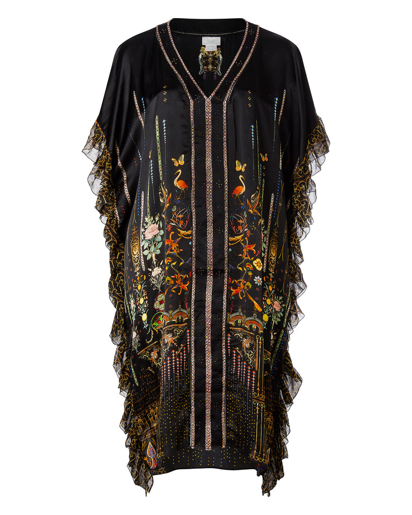 V-Neck Kaftan with Ruffle Sleeve