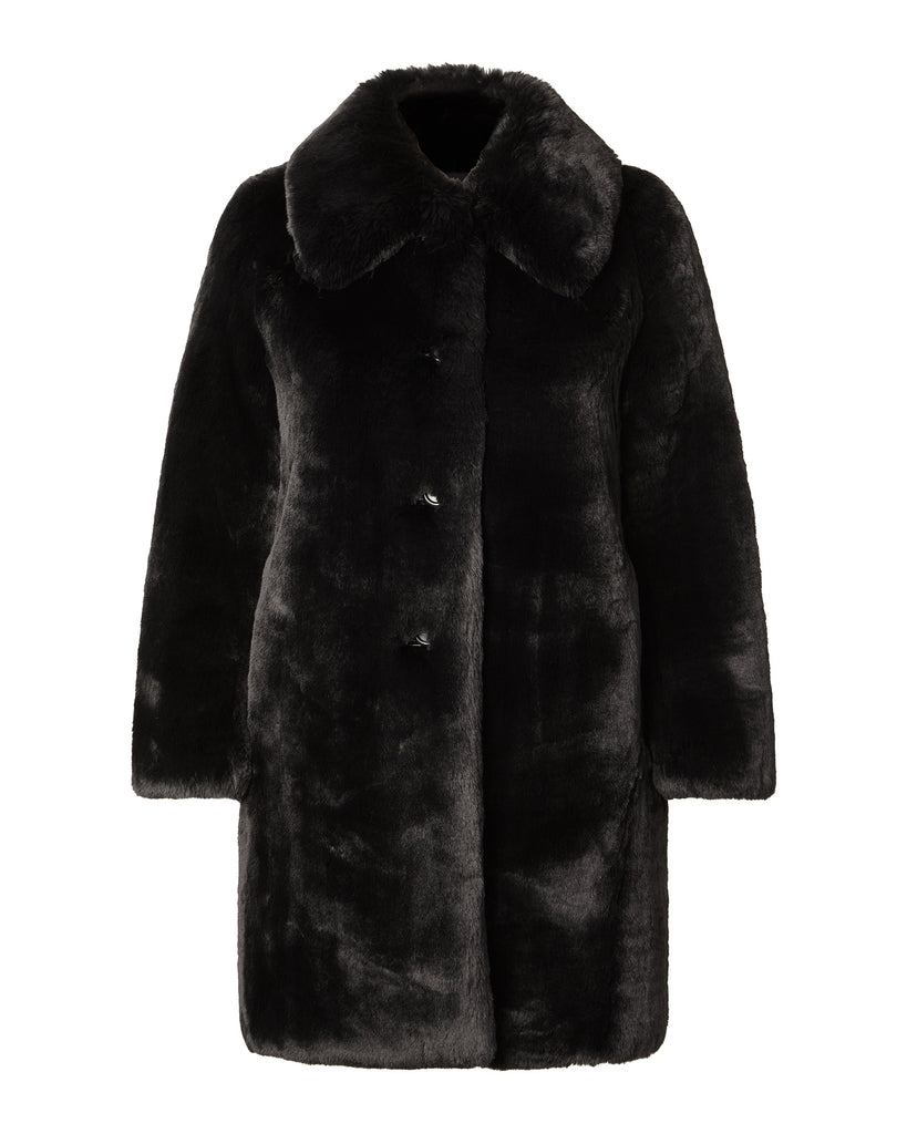 Plush Coat with Collar