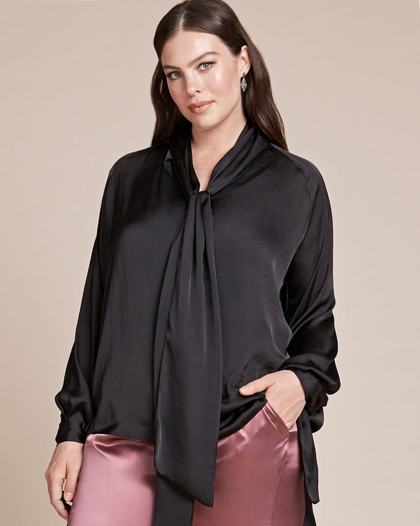 Washed Satin Studio Blouse