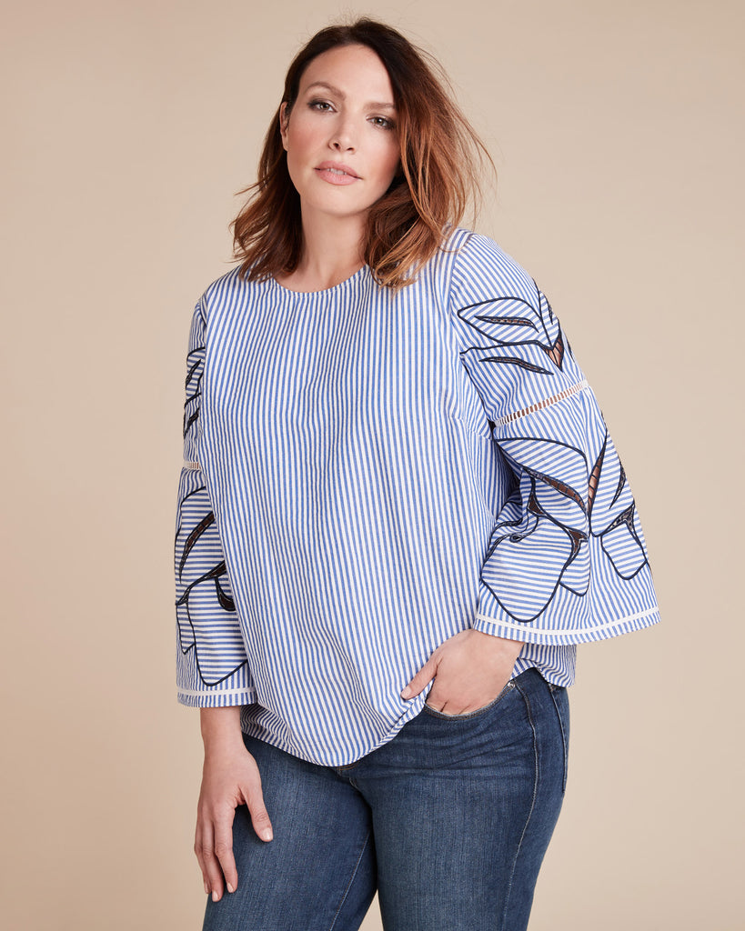 Tulip Embroidery Martine Top