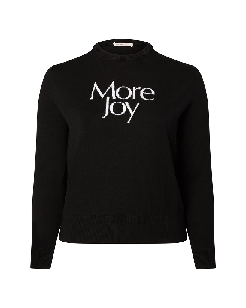 """More Joy"" Intarsia Crewneck"