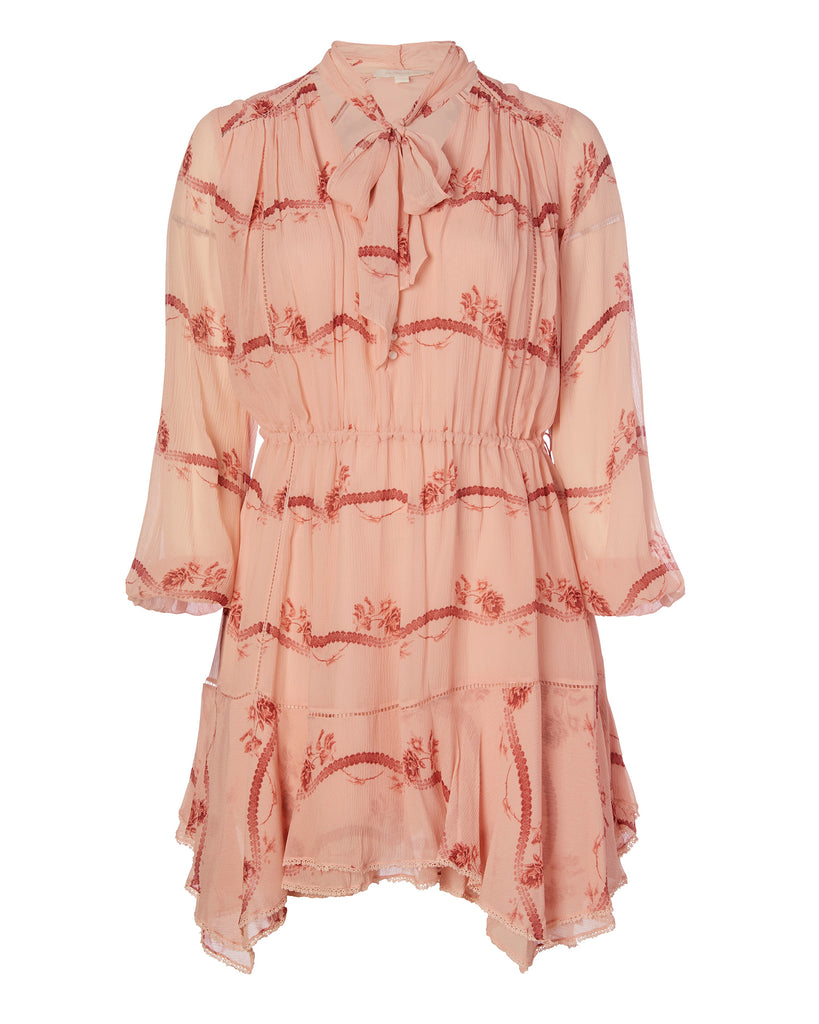 Irena Rose Silk Dress