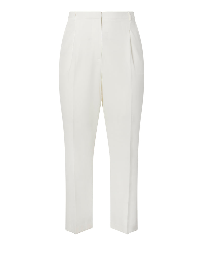Matte Crepe Pleat Front Trouser
