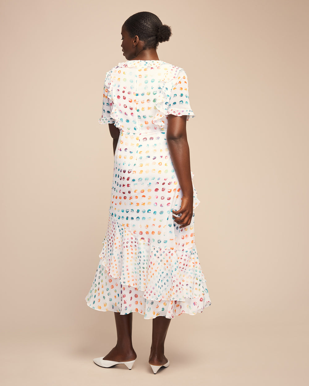 Candy Ruffle Polkadot Dress