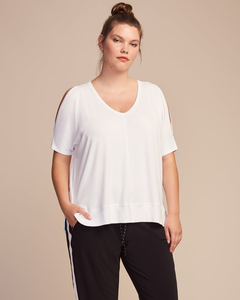 CurV Serenity Cold Shoulder Tee