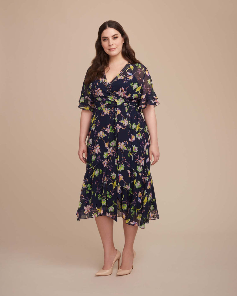 Garden Floral Crinkle Blaire Dress