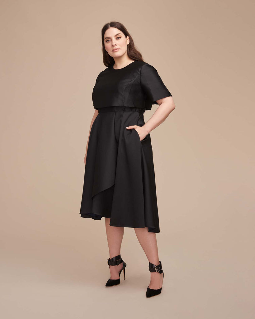 Evening Short Sleeve Cocktail Dress