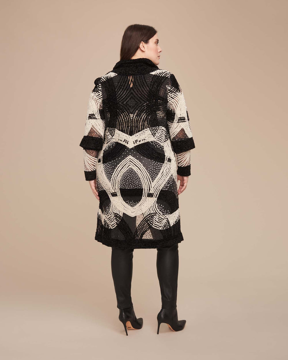 Embroidered Chenille Coat