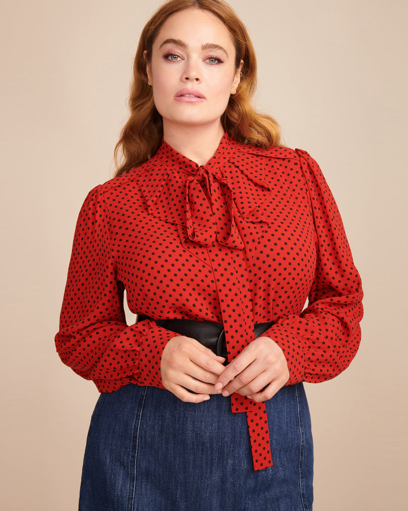 Gathered Button Down Blouse