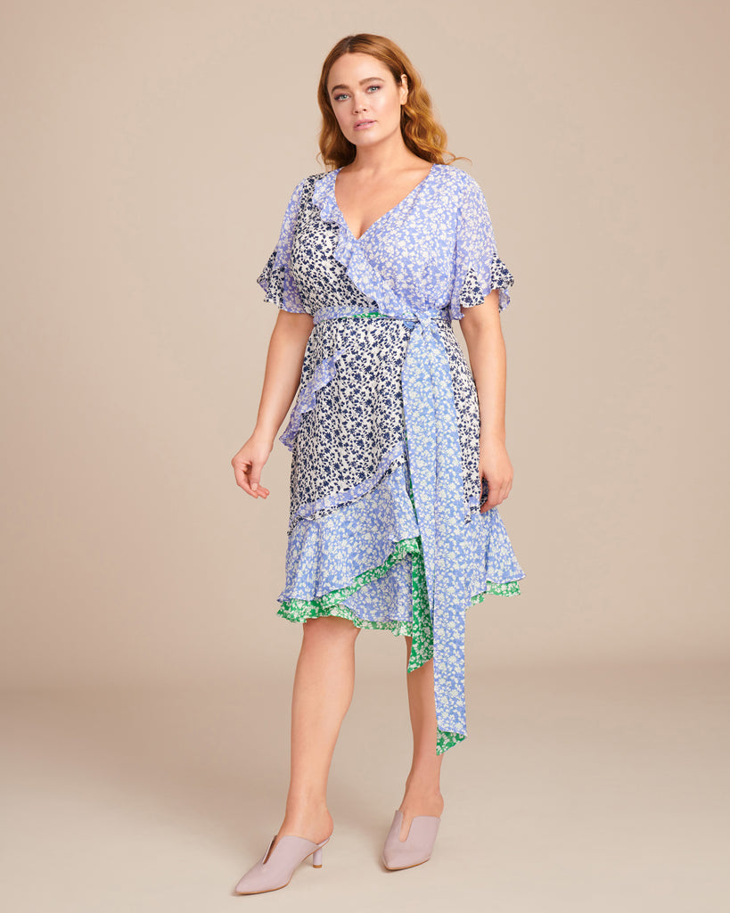 Ditsy Floral Textured Bianka Dress
