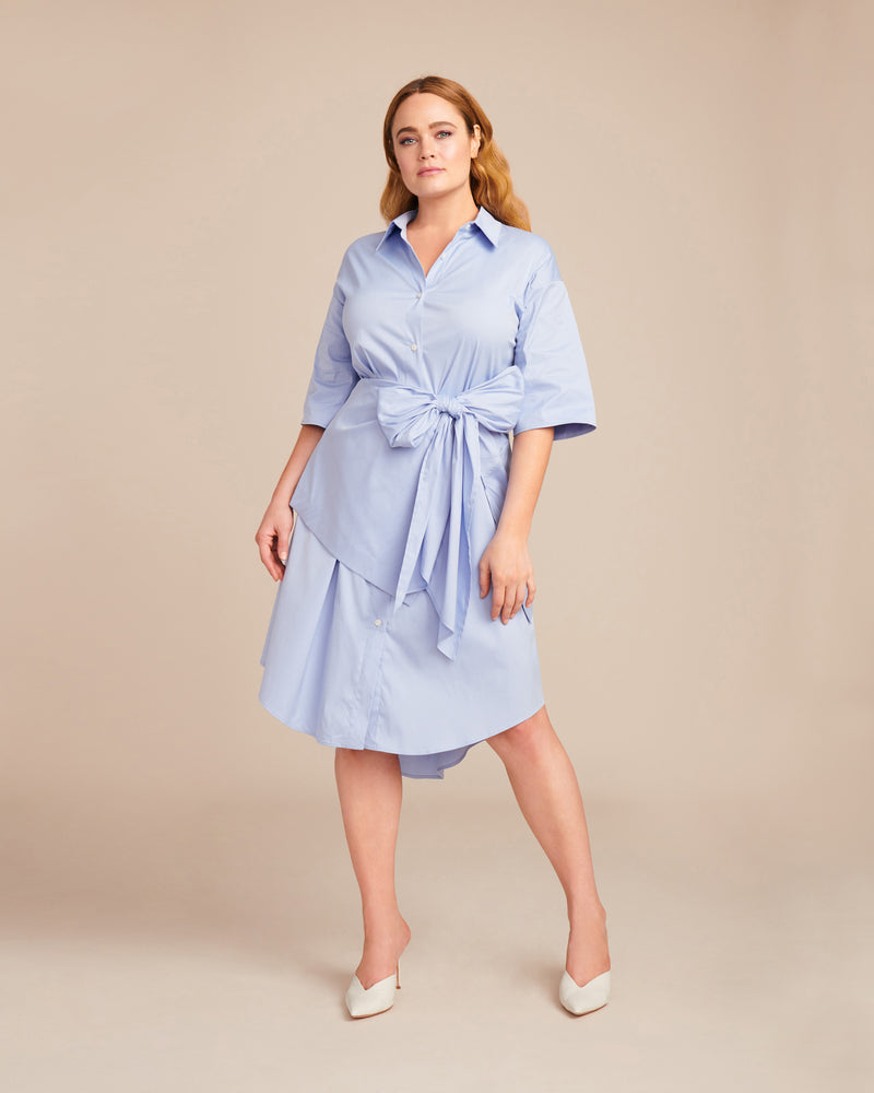 Tome Blue Open Back Shirtdress Plus Size Sizes L Xl Xxl 11 Honor Inc