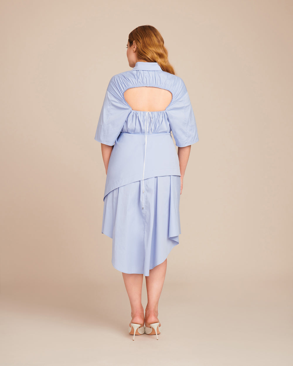 Open Back Shirtdress