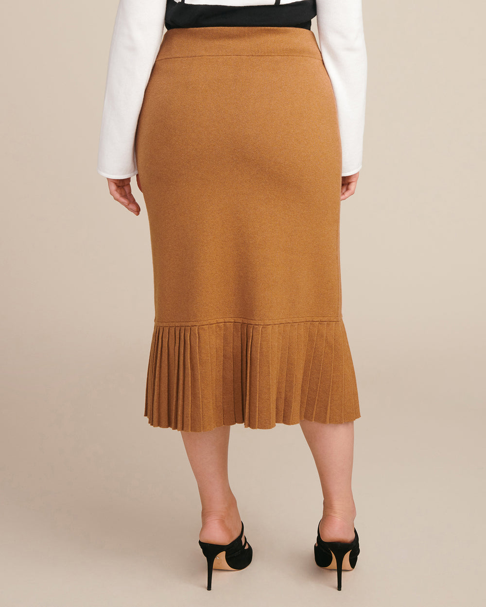 Double Knit Skirt with Pleats