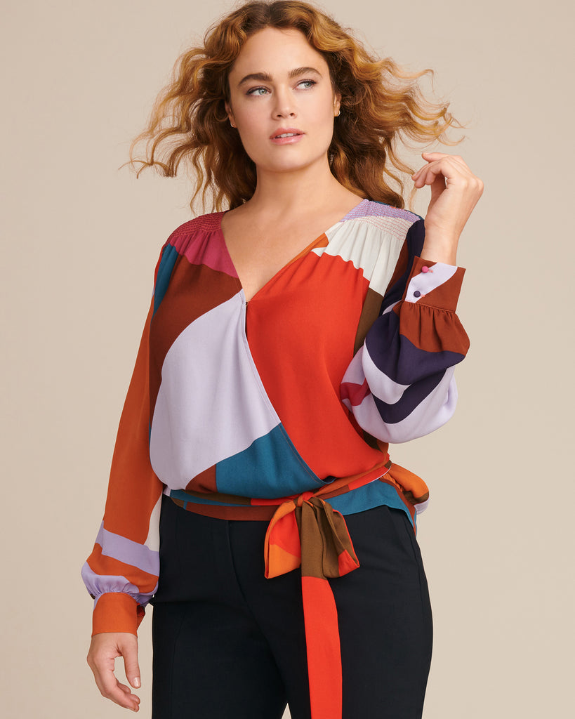 Colorblock Print Klara Top