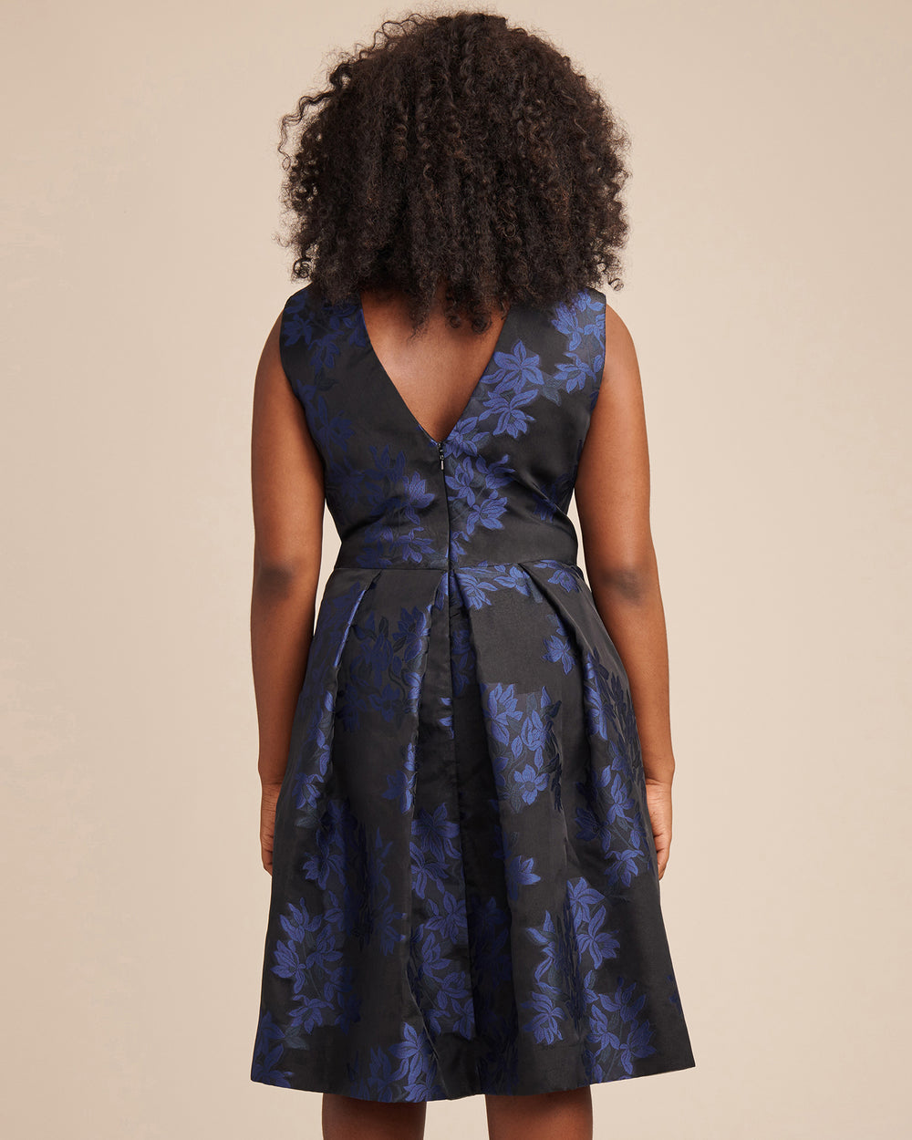 Jacquard Fit and Flare Cocktail Dress