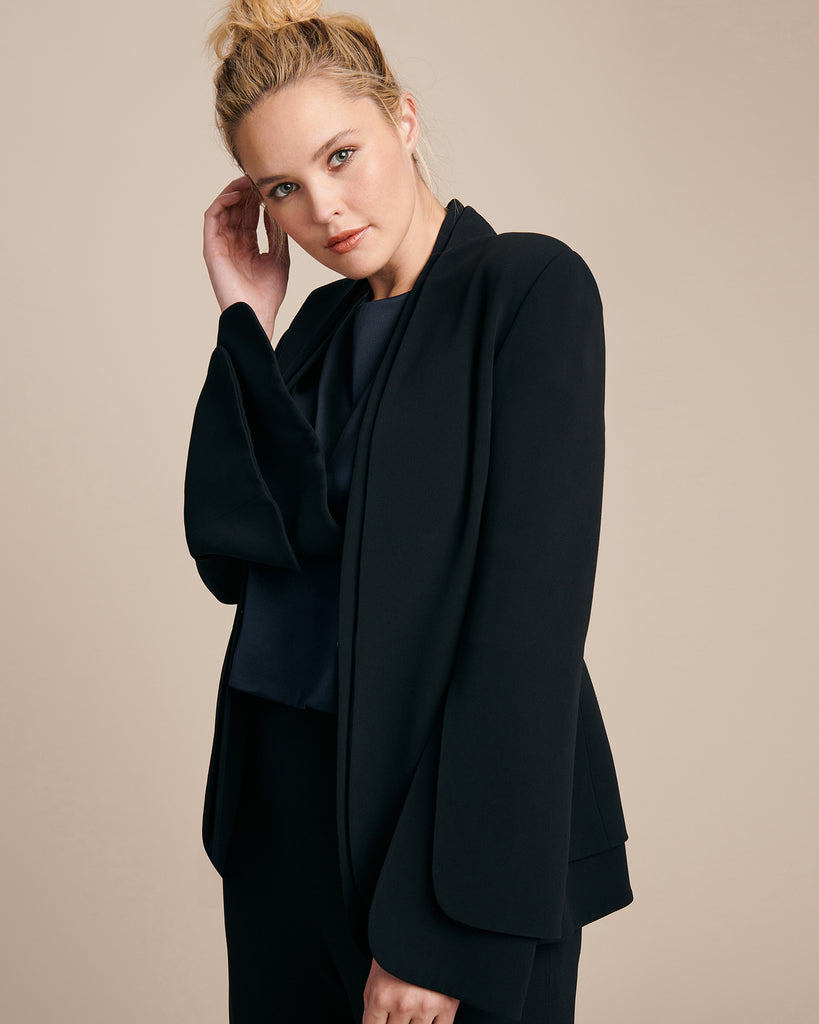 Crepe Split Sleeve Jacket