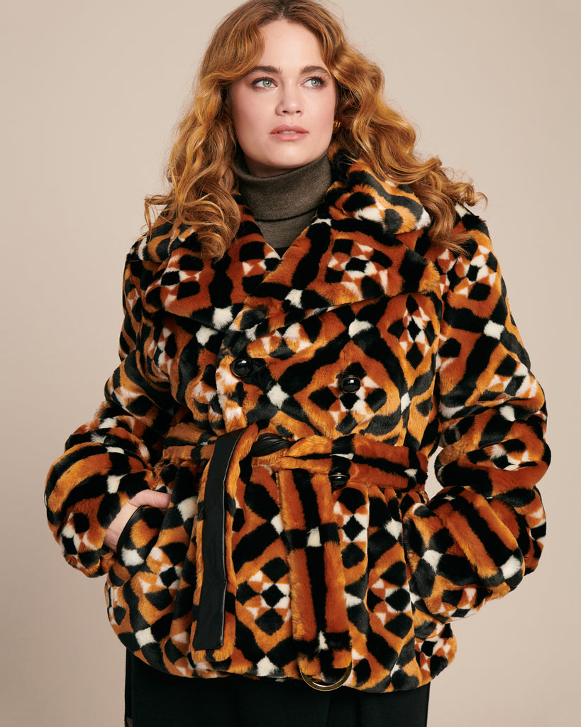 Oates Coat with Faux Fur