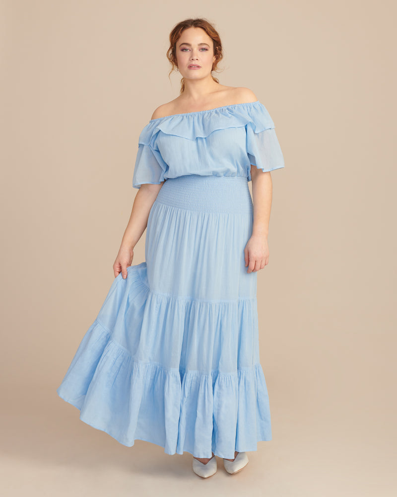 f5edaf70dca9 Anaak Blue Jaisalmer Off-Shoulder Dress – 11 Honoré