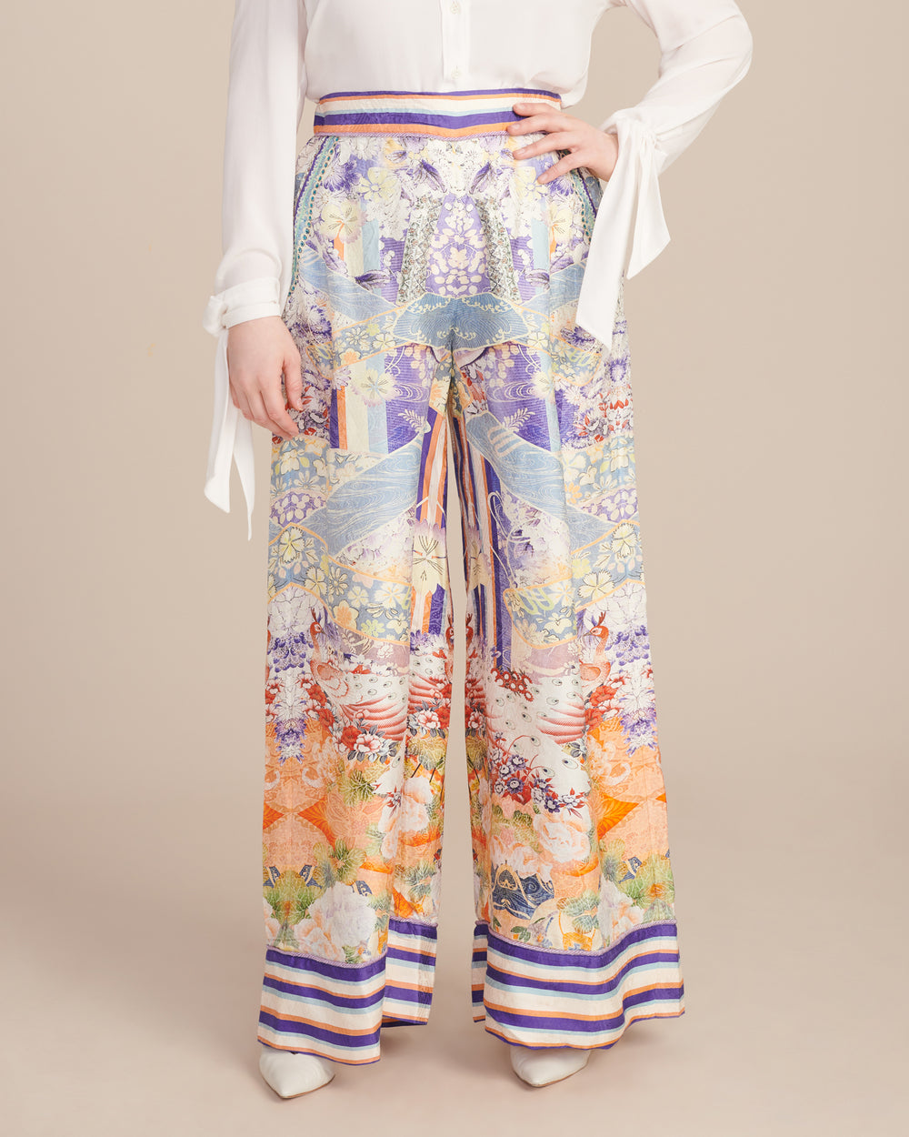 Wide Leg Pant With Cuffs