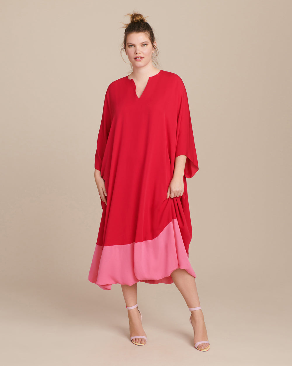 Color Blocked Georgette Caftan