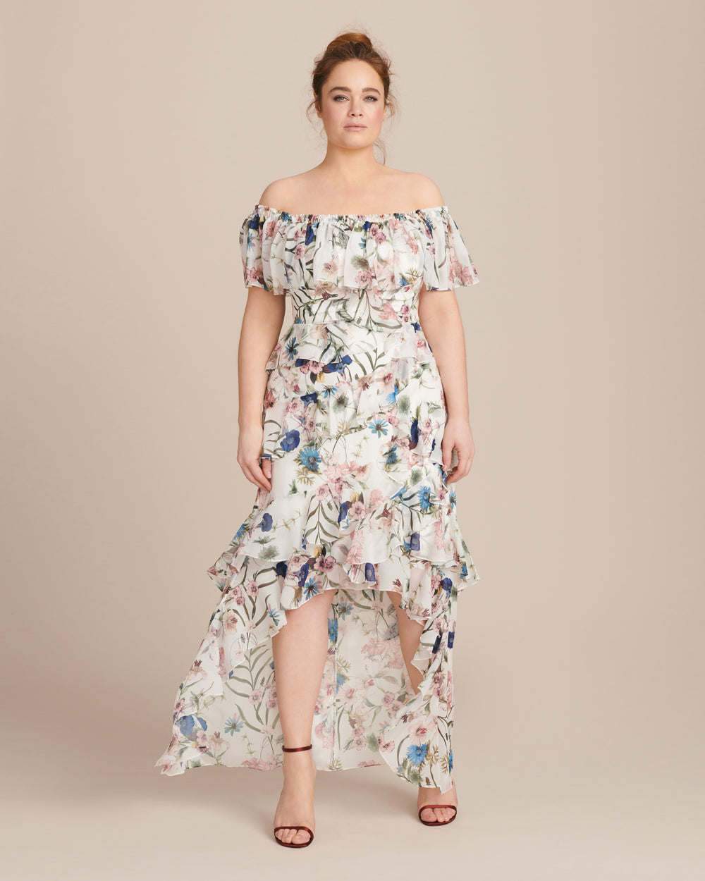Hi-Low Ruffle Recut Gown