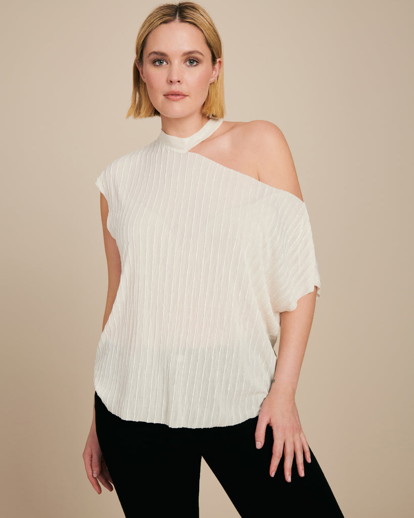 Axel Rib Neck Cut Out Tee