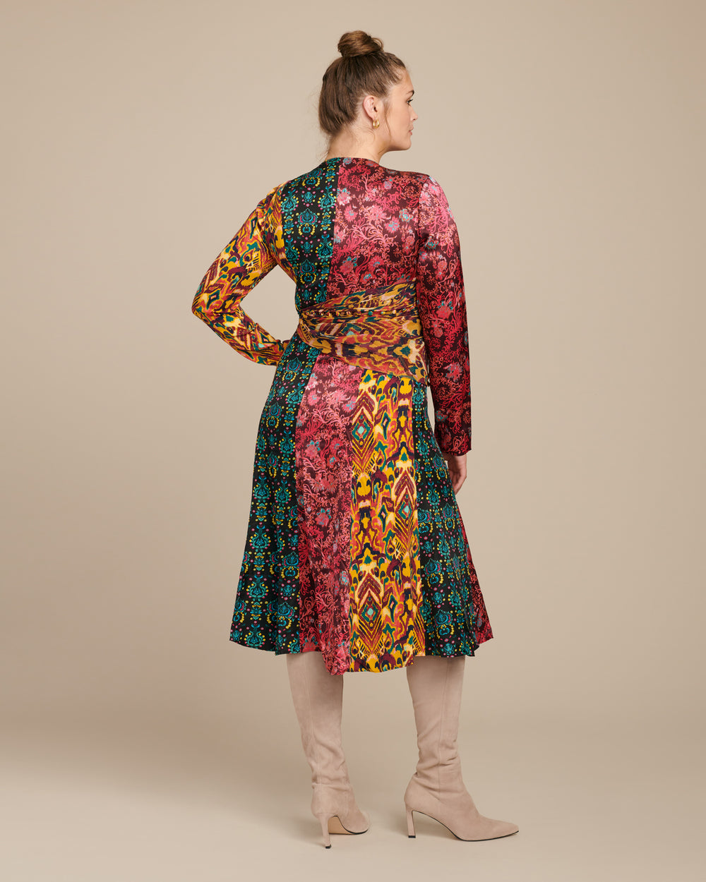 Taxila Long Sleeve Cut-Out Dress