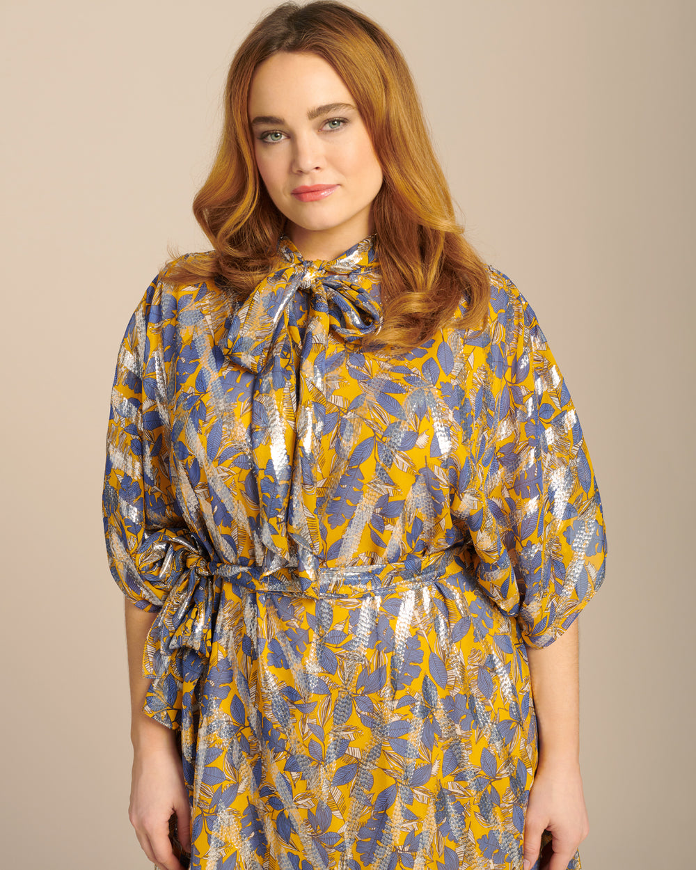 Printed Caftan with Slip