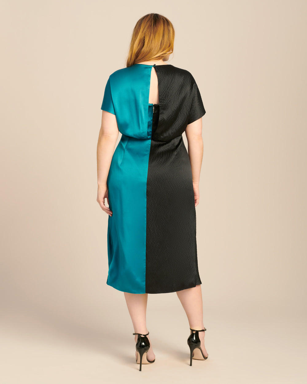 Two Tone Jackie Twist Front Dress