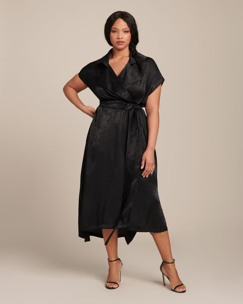 Sleeveless Trench Dress with Belt