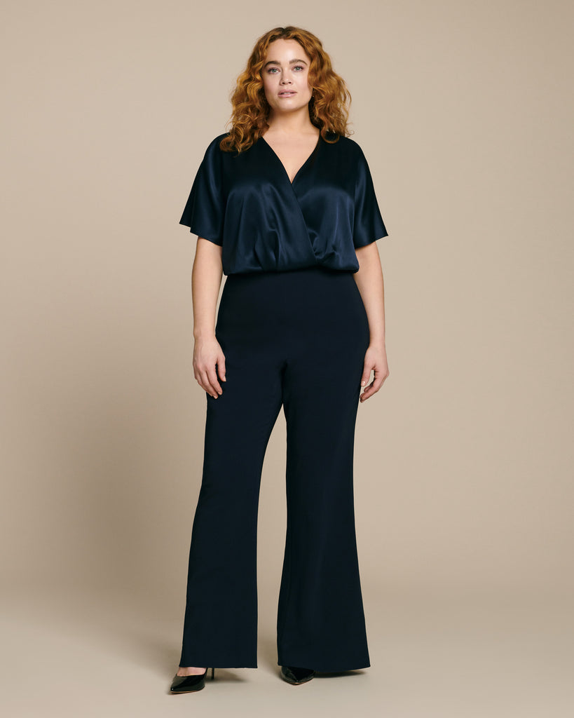 High-Waisted Slightly Flared Pant