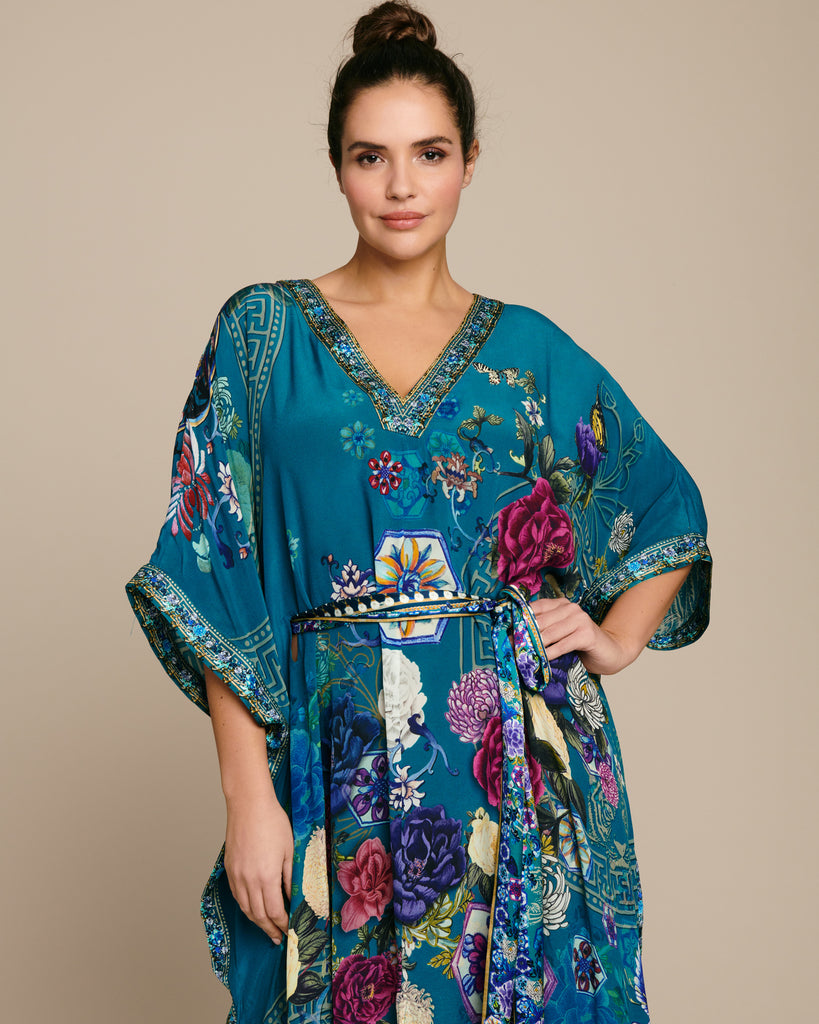 V-Neck Kaftan with Belt