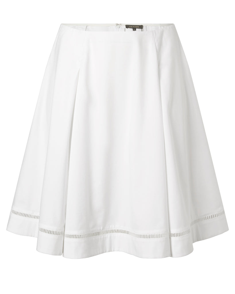 Stretch Cotton Poplin Skirt
