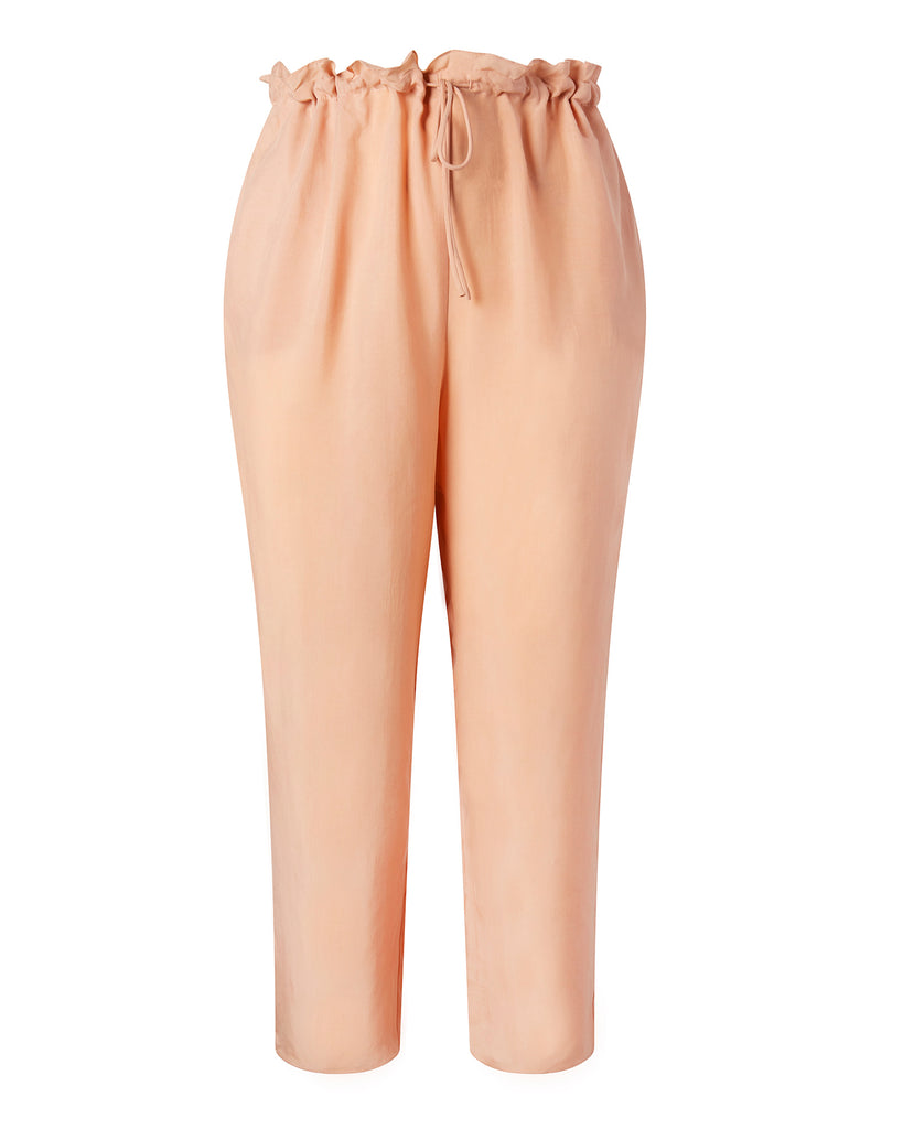 Lightweight Cupro Cropped Drawstring Pant