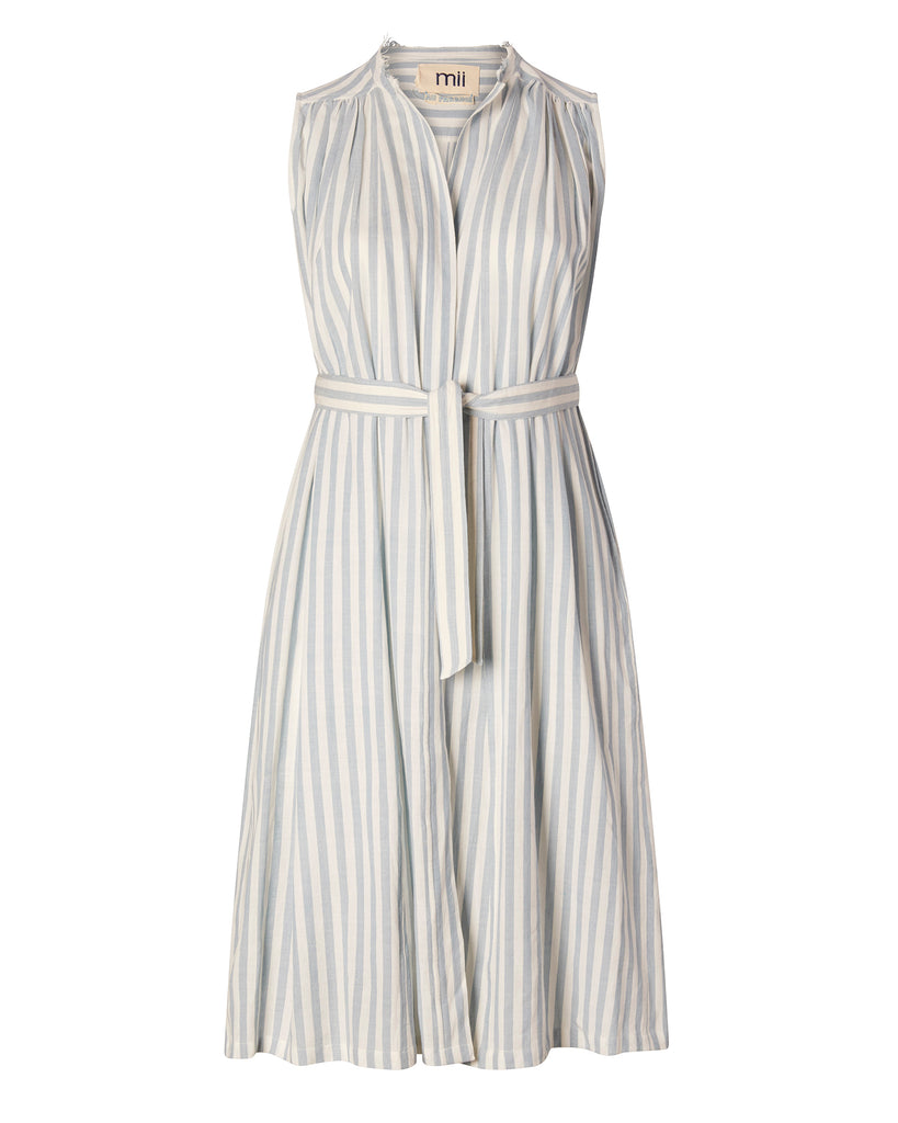 Striped Sleeveless Wrap Dress