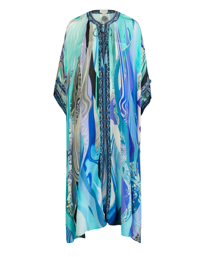 Long Lace Up Kaftan with Eyelets