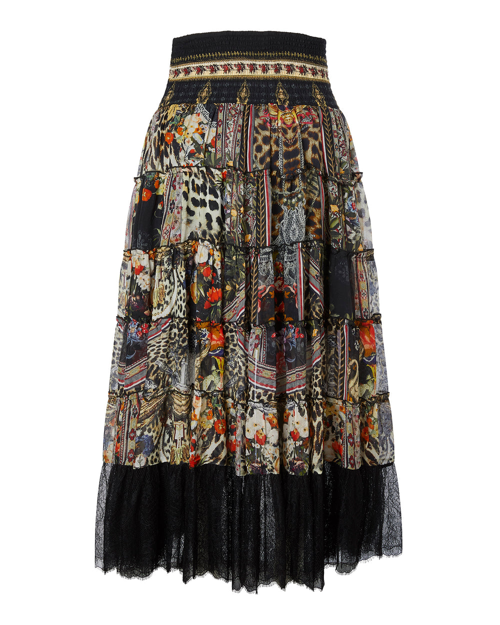 Sheer Tiered Circle Skirt